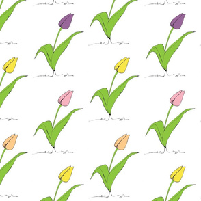 Staggered Tulips