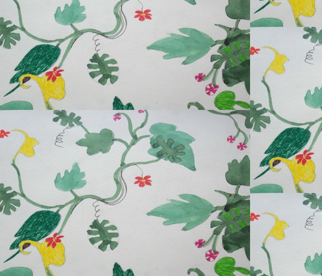 green and yellow leaves  fabric by rachana on Spoonflower - custom fabric