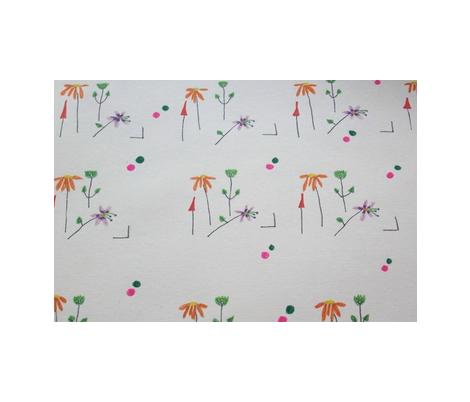 floral composition fabric by rachana on Spoonflower - custom fabric