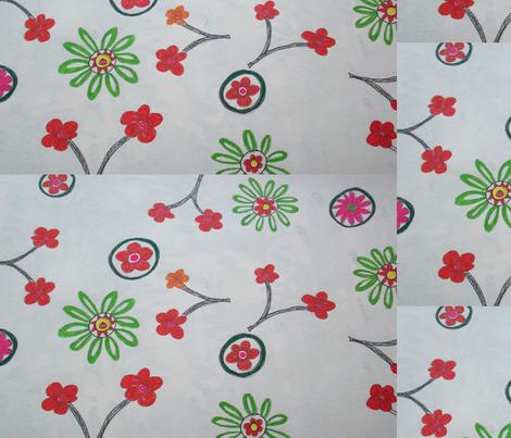 red flowers fabric by rachana on Spoonflower - custom fabric