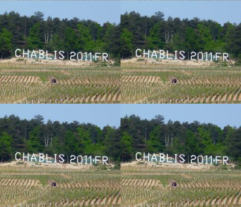 Chablis Wine Landscape, France fabric by susaninparis on Spoonflower - custom fabric