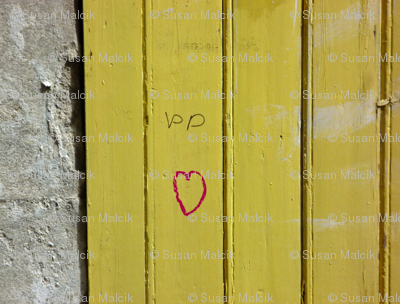 Love on a Mustard Door