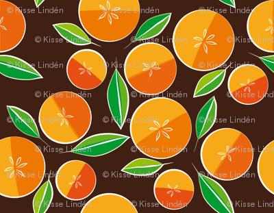 oranges on brown