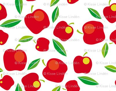 apples on white