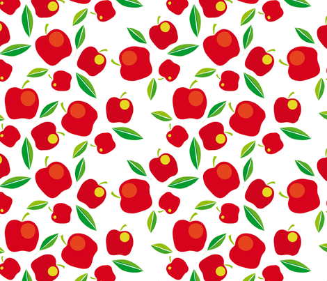 apples on white fabric by creative_cat on Spoonflower - custom fabric
