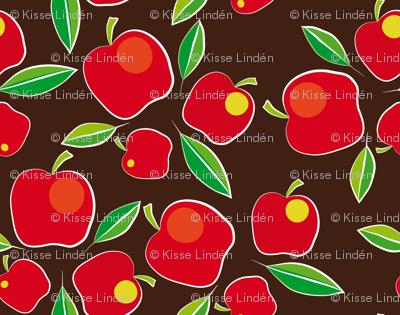 apples on brown
