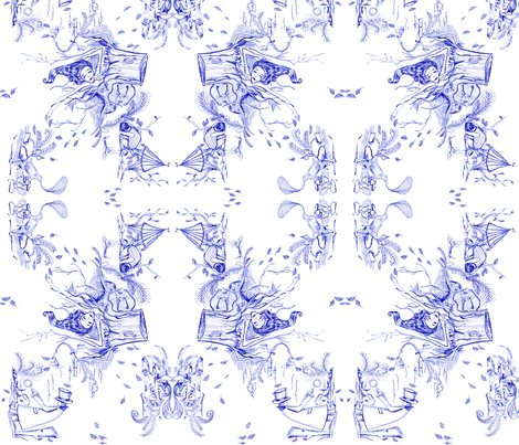 what happened to Lucille! fabric by angiekreuter on Spoonflower - custom fabric