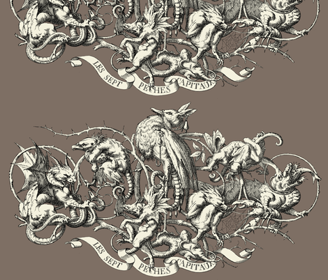 The Seven Deadly Sins fabric by ninniku on Spoonflower - custom fabric