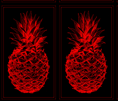 red Pineapples fabric by nascustomlife on Spoonflower - custom fabric