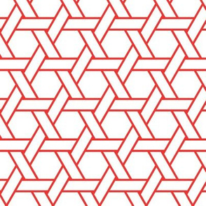 kagome outline in carnelian