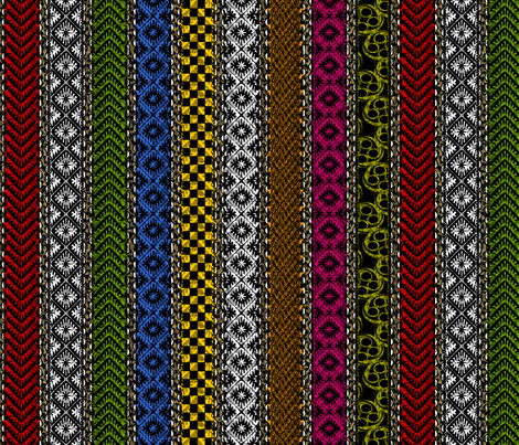 african_stripes fabric by glimmericks on Spoonflower - custom fabric