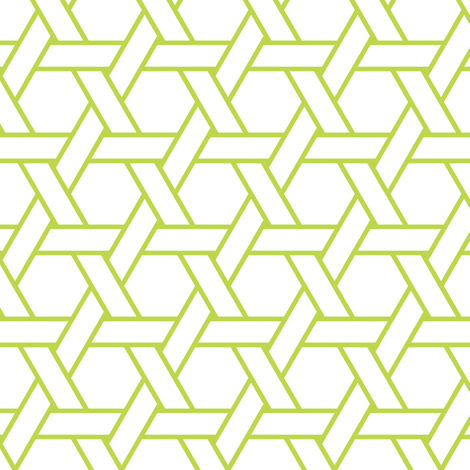 kagome outline in peridot fabric by chantae on Spoonflower - custom fabric