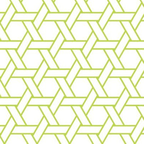kagome outline in peridot