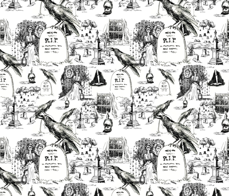 x_mystery_toile fabric by mcuetara on Spoonflower - custom fabric