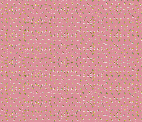 Pink Daisy Bow fabric by fenderskirt on Spoonflower - custom fabric