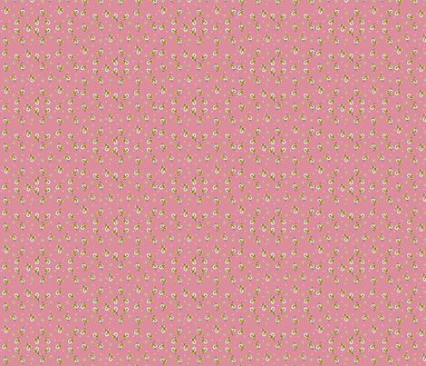 Pink Daisy Bow fabric by fenderskirt on Spoonflower - custom fabric