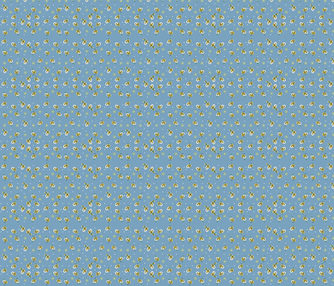 Blue Daisy Bow fabric by fenderskirt on Spoonflower - custom fabric