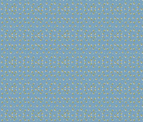 Blue Daisy Bow fabric by fenderskirt on Spoonflower - custom fabric