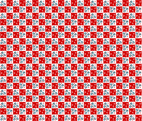 Red Checkered Past fabric by fenderskirt on Spoonflower - custom fabric