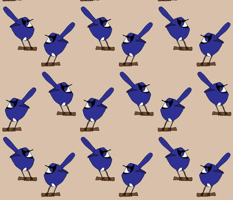 Fairy Wrens fabric by heartfullofbirds on Spoonflower - custom fabric