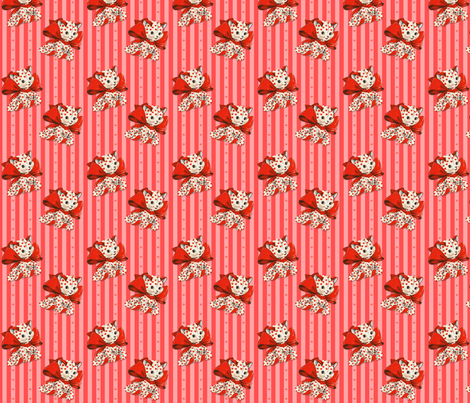 Valentine Kitty fabric by fenderskirt on Spoonflower - custom fabric