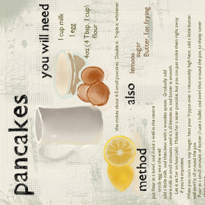 Pancake Recipe Tea Towel