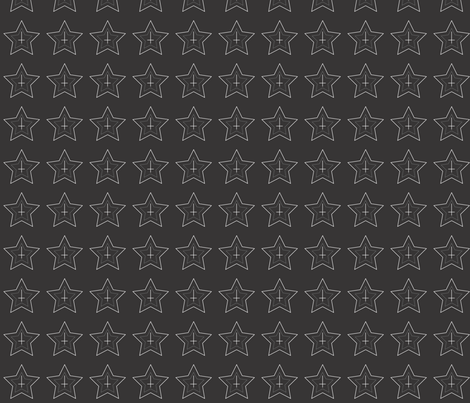 GothicUpsideCrossStarPrint2 fabric by dunkle_liebe on Spoonflower - custom fabric