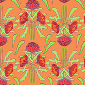 Spring waratahs on apricot by Su_G