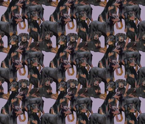 Doberman Mural fabric fabric by dogdaze_ on Spoonflower - custom fabric