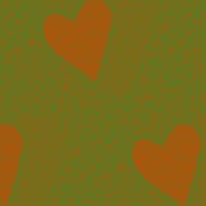 heart electric - orange & green