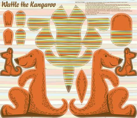 Wattle the Kangaroo fabric by cjldesigns on Spoonflower - custom fabric