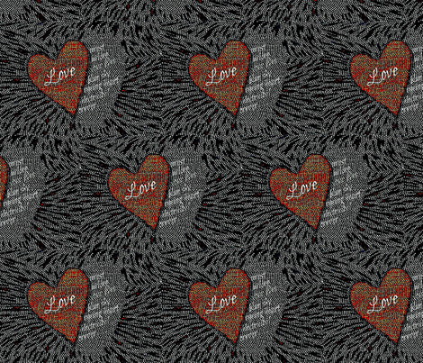 Love Letter fabric by materialsgirl on Spoonflower - custom fabric