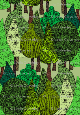 Doodle Trees in colour