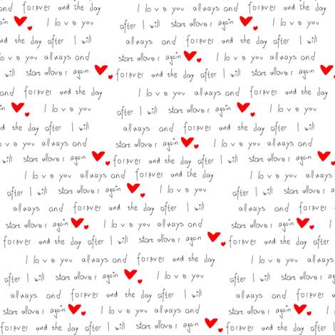 Love Letter fabric by helena_ekberg on Spoonflower - custom fabric