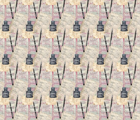 Ink fabric by linsart on Spoonflower - custom fabric