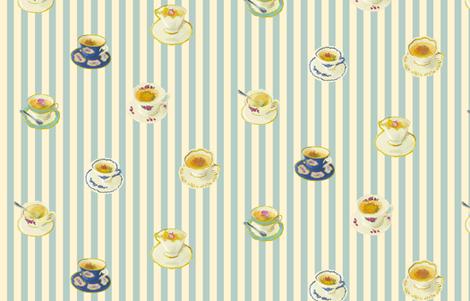 Blooming Tea fabric by shirayukin on Spoonflower - custom fabric