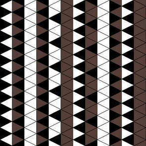 Triangle Check Brown and White