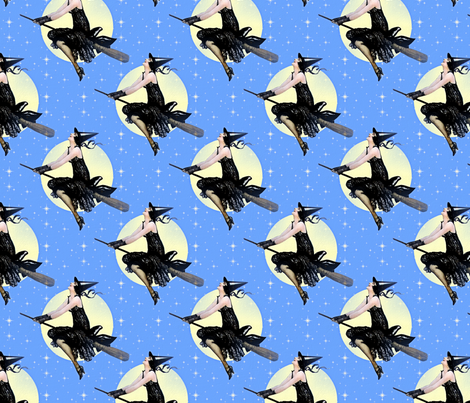Modern Witch fabric by mandamacabre on Spoonflower - custom fabric