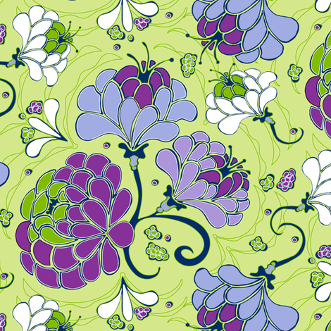 Whispery Dahilia fabric by kari_d on Spoonflower - custom fabric
