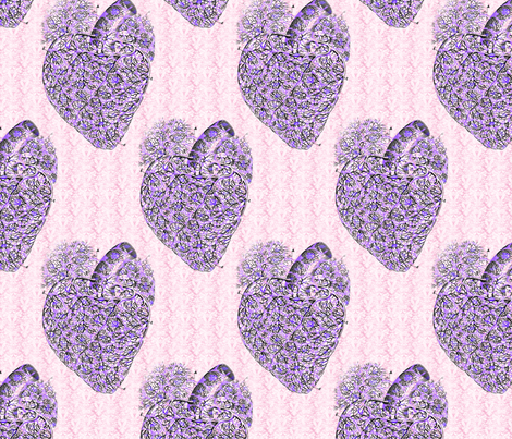 Shabby Heart  fabric by mandamacabre on Spoonflower - custom fabric