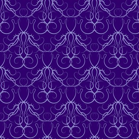 gothic scrolls - purple fabric by ravynka on Spoonflower - custom fabric