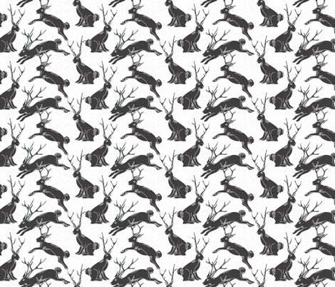 black_jackalopes fabric by holli_zollinger on Spoonflower - custom fabric