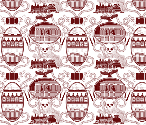 Murder Express fabric by janekenstein on Spoonflower - custom fabric