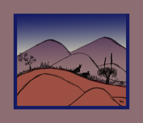 Twilight on the byways fabric by su_g on Spoonflower - custom fabric