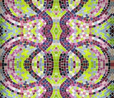 Mosaic Purple Tiles fabric by cvoorhee on Spoonflower - custom fabric