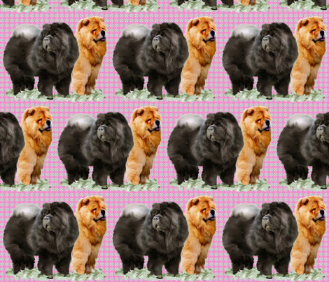 red_and_black_chows fabric by dogdaze_ on Spoonflower - custom fabric