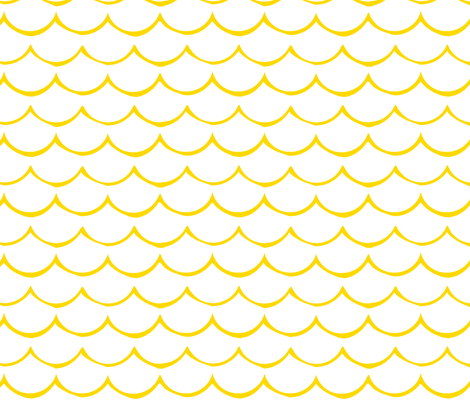 golden waves  fabric by fable_design on Spoonflower - custom fabric