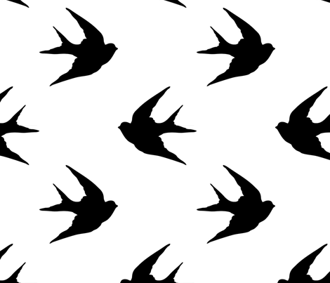 Swallow fabric by slickandhisruin on Spoonflower - custom fabric
