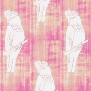 Galah - Hand Carved Stamp - Vintage Pink