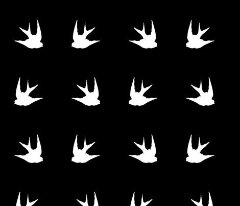 Swallow fabric by slickandhisruin on Spoonflower - custom fabric